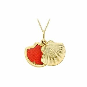 9ct Yellow Gold Oyster Shell Sliding Locket