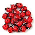 20 Red Lampwork Glass Ladybug Ladybird Loose Beads 12mm HOT
