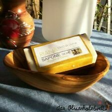 Soap Dish Olive Wood Soap Holder Wood Tray Bowl + Natural - Soap