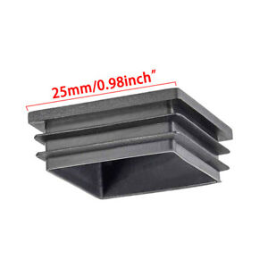 Square Blanking End Cap Tube Insert Pipe Plug Bung Plastic Table Chair Feet Mute
