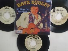 LOT OF 4  ' DAVE DUDLEY ' HIT 45's+1P(Copy)[Six Days On The Road] THE 60's&70's!