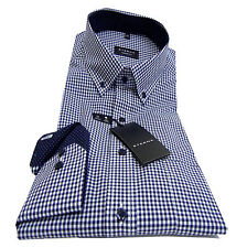 ETERNA Hemd Comfort Fit Karo Baumwolle Button-Down-Kragen Patch 8913/16 E143