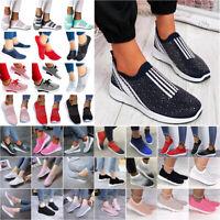 Damen Sportschuhe Slip On Sneakers Fitness Freizeitschuhe Laufschuhe Turnschuh