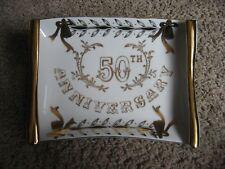 50th ANNIVERSARY  Dish / Wall Plaque, Lefton #1639, Japan