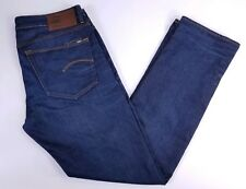 G-Star Raw 3301 Slim Straight Dark Wash Denim Jeans Mens 36x34 (37x33)