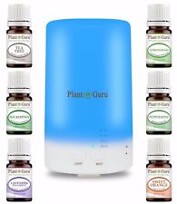 Essential Oil Diffuser Gift Set 70ml Humidifier With Pure Aromatherapy Oils Lot