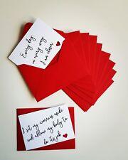 IVF miniature affirmation cards and envelopes x12, fertility journey positivity