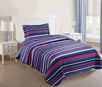 Kids Bedspread Quilts Set Throw Blanket Teens Boys Girls Bedding Twin, A15