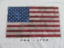 Usa 1776 Patriotic Americana Country Style Flag National Pride T Shirt Size L