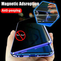 Magnetic Full Glass Anti Spy Case For Galaxy S21 S20 S10 S9 S8 Plus Note 20 10 9