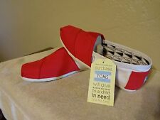 NEW TOMS Classics  RED & WHITE,Men Size 11 1/2, Free Shipping.