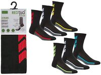 3 Pairs Mens Soft Cushion Sole Sports Running Football Golf Gym Socks UK 6-11