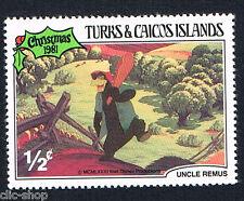 WALT DISNEY UN FRANCOBOLLO TURKS & CAICOS ISLANDS CHRISTMAS 1/2c 1981 nuovo