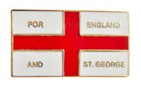 England St George 'For England and St George' Flag Pin Badge