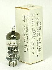 NOS LORENZ ECC91 6J6 Elektronenrohre SINGLE TUBE or MATCHED PAIR DIGITAL TESTED!