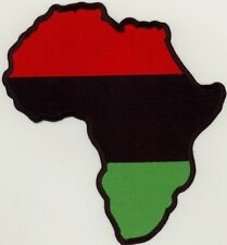 "Large RASTA AFRICA MAP (RBG) Embroidered Patch 6.5""x6"""