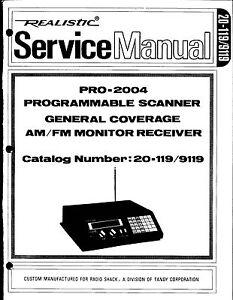 Realistic Pro-2004 Service Manual * CDROM * PDF
