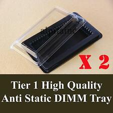 x2 ANTI STATIC DIMM Memory tray box container for Labtop/Notebook DDR2 DDR3 DDR4