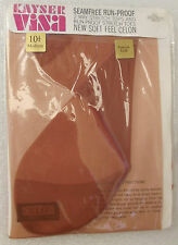 Vintage nylon stockings 10 1/2 Kayser Seam free CELON medium length GRECIAN GOLD