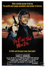 The evil that men do Charles Bronson movie poster print