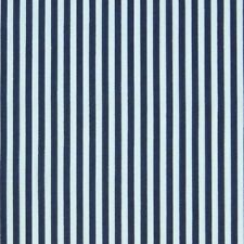White & Navy Blue 3mm Stripe Polycotton Fabric Pyjama P/Metre