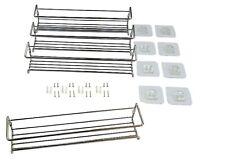 4er Set Gewürzregale aus Metall für Gewürzdosen inkl. Klebepads und Schrauben