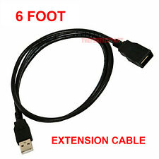 6FT USB 2.0 Male to Female Extension Data Charger Cable Cord Adapter M/F 6 Feet