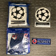 Chelsea - UEFA Champions League 2019/20 Starball & RESPECT Shirt Sleeve Patches
