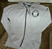Pittsburgh Penguins hoodie sweatshirt Adidas men's medium New with tags NHL gray