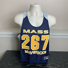 Mass Mavericks Reversible Nike Lacrosse Lax Jersey Navy Blue and White Mens S/M