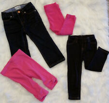 Toddler Girls Size 2T (Lot of 4) Assorted Denim & Stretch Jeans & Pink Leggings
