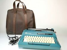 VINTAGE 1960'S SMITH CORONA STERLING AUTOMATIC 12 TOUCH TEAL ELECTRIC TYPEWRITER