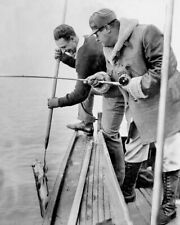 "Babe Ruth & Lou Gehrig Cod Fishing - 8"" x 10"" Photo - 1931 New York Yankees"