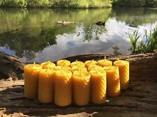 100% ORGANIC HANDMADE BEESWAX CANDLES * SET OF 15 CANDLES *