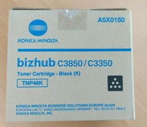 New Genuine Konica Minolta Bizhub Toner Black C3850/C3350 A5X0150