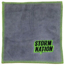 Storm Nation Green/Gray Leather Bowling Ball Shammy Cleaning Pad