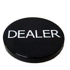 "Brybelly 2"" Black Plastic Dealer Poker Button"