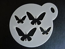 Laser cut small butterfly pattern design cake,craft & face painting stencil