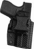 Premium IWB Kydex Gun Holster for Glock 26/27/33 with Soft Suede Inner Lining