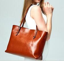womens real cow Leather bucket OL messenger bag handbag  shoulder Hobo Tote Bag