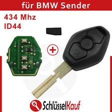 BMW 3 Tasten Autoschlüssel HU58 Rohling 434 Mhz Funksender ID44 Transponder Neu