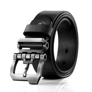 Gürtel Herren Ledergürtel aus Büffelleder für Männer Jeans Anzug Echtleder 38mm