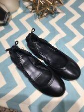 $148 MARIA SHARAPOVA by COLE HAAN Air Bacara Black Leather Ballet Flat Sz 4.5