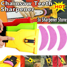 Woodworking Chainsaw Teeth Sharpener & 3xStone Grinder Sharpening Grinding Chain