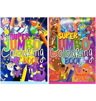 2 x KIDS A4 Super Jumbo Activity Colouring Book Books BOYS GIRLS OVER 300 PAGES