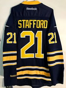 Reebok Premier NHL Jersey Buffalo Sabres Stafford Navy sz XL
