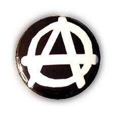 Badge A ANARCHIST ANARCHY Blanc/NOIR anar anarchie biker goth rock punk Ø25mm