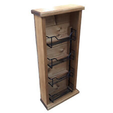 French Country Vintage Inspired Timber Wooden Spice Rack Tall Skinny Insert New