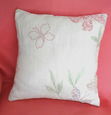 LAURA ASHLEY HOME FABRIC ~ MALLOW / PINK GINGHAM COMPLETE 13 inch CUSHION #1