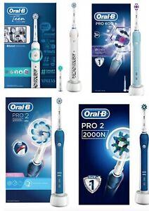 Oral B BRAUN PRO2 2000,2000S sensi,Teen, PRO 600 Electric Toothbrush Brush heads